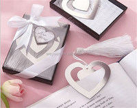 "100pcs ""Love Story"" Silver Metal Heart Shaped Bookmark With Tassel Wedding Favor And Gifts DHL Freeshipping"