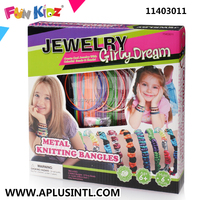 Kids Craft DIY Girly Dream Metal Knitting Bangles Kits