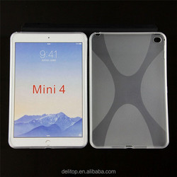 Simple X-Line Wave Series Style Transparent TPU Gel Back Cover Case For Apple iPad mini 4