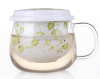 ST1503-GC023, 300ml HBG&Ceramic double wall glass cup