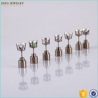 Wholesale fashion party club light up multi-color LED stud earrings
