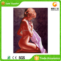 Factory supply new design girl nude open hot sexi girl photo diy crystal diamond painting