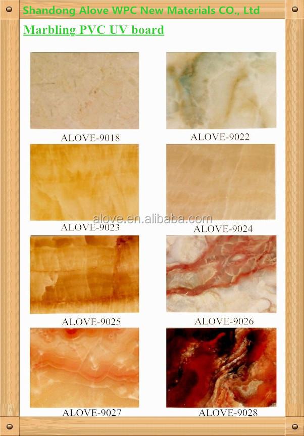 환경 PVC 벽 장식 패널 장식 모조 대리석 UV 보드- 판매를위한 2