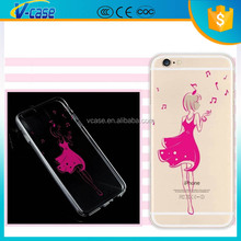 Unique coloured drawing design animel sex girl phone case for iphon 6