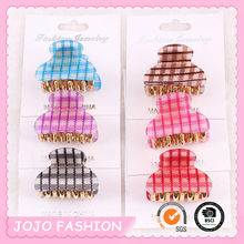 Wholesale Eco-friendly Girls Light Transpatent Plastic Jaw Hair Claw Clips/