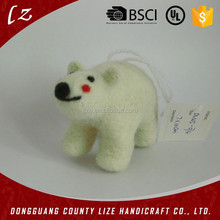2015 hot sales new product China home crafts holiday decorations handmade Christmas christmas bear felt handmade