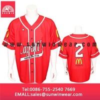 Newest designed custom sublimation printing baseball jerseys