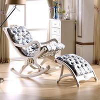 fabric wood rocking chair Royal Elegant Italian chair livingroom furniture