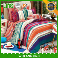 home textile print cotton bed sheeting