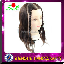 SH Ye natural hair direction,training mannequin head with real hair