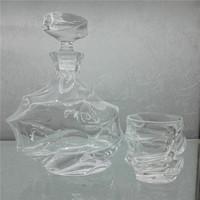 Transparent Machine made wine glass bottle / water glass bottle for hoetl / resterant/ bars with irregular shape