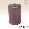 ECO-friendly straw brown modern laundry baskets with lid