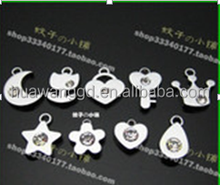 8mm dot dangle shaped pendant for necklace
