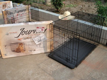 brand new metal wire dog puppy BLACK cage folding crate