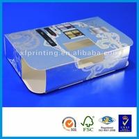 cosmetics packaging airless fake book storage box dance storage boxes custom printed tin box