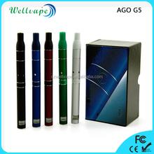 Factory cheap high quality lcd battery ago g5 dry herb vape pen g5 vaporizer