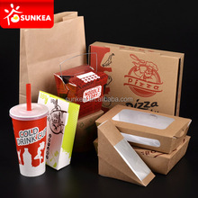 Disposable food and drinking packing for restaurants