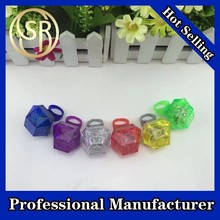 Novelty plastic halloween flashing rings with led