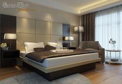 Good quality panel furniture set/modern style hotel bedroom furniture