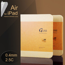 """JJL Tempered Glass Screen Protector For iPad Air (0.4mm 9.7"""" 2.5C 9H HD Clear)"""