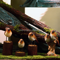 Wholesale Christmas Decoration Resin Bird Animal Products