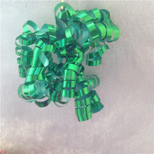 Metallic Foil Green Curl Swirls for Gift Decoration