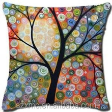 Bright color pillow of nature printing about tree