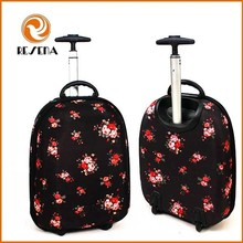 2015 New Promotional gift kids suitcase style children travel trolley luggage bag