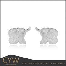 CYW online shopping 925 sterling silver rhodium plating earrings, elephant and women sex