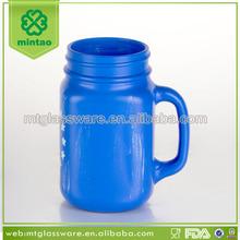 antique different types blue glass vase