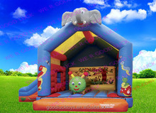 jumping castle/ inflatable bouncer house home used commercial grade inflatable castle with slide /inflatable castle /inf