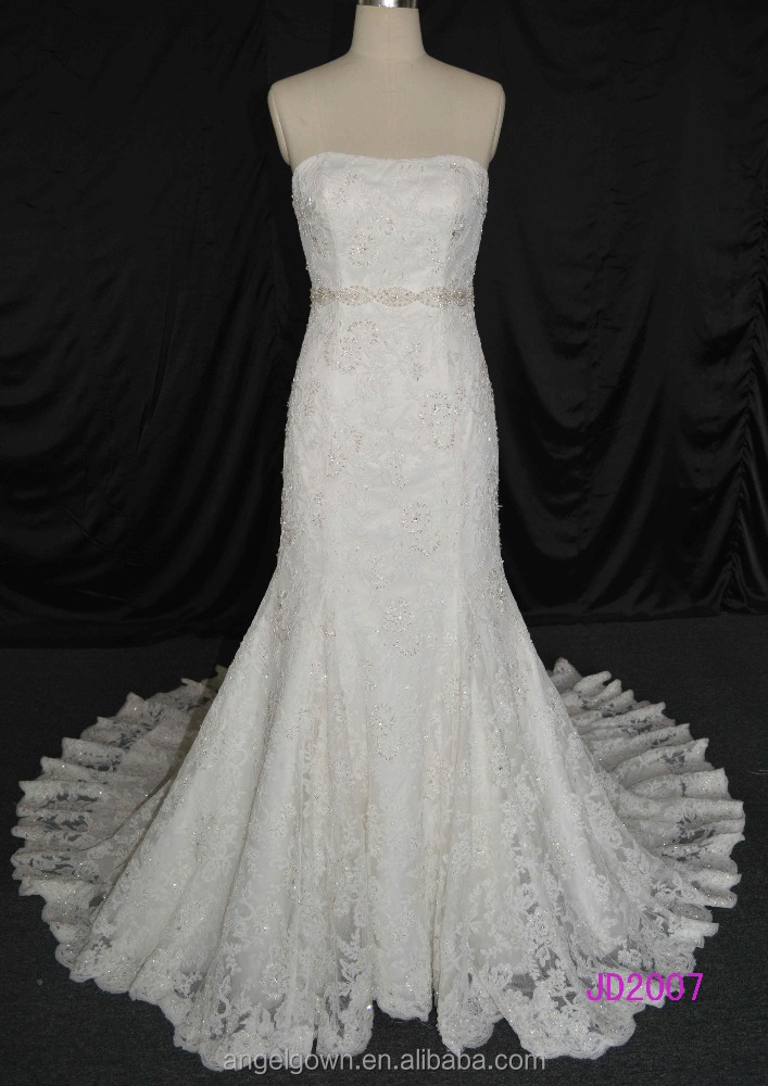 heavy beaded mermaid wedding bridal dresses cord lace