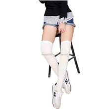 Girls Ladies Women Thigh High Over the Knee Socks Twist Pattern Long Cotton Stockings