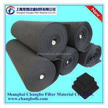 Synthetic fiber activated carbon filter roll/air carbon filter/rolls of carbon filter media