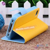 Hot Selling PC+PU cell phone case for iphone 4
