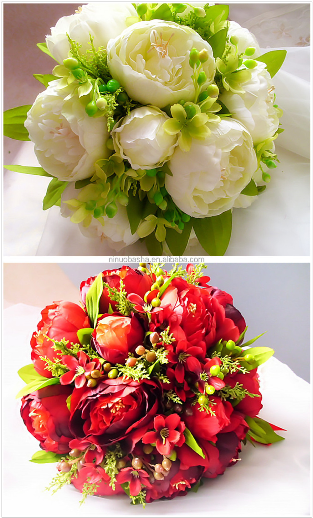 Hot Sale 2014 Artificial Peony Wedding Flowers Bouquet Holders ...