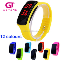 hot and latest multicolour digital wrist watch sport silicone led watches men 2012