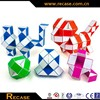 24 triangle blocks plastic magic snake toy magic snake ruler cube wooden snake cube puzzle