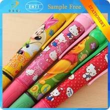 Wholesale lovely bear style High quality school supplies Cartoon office big size 4 colors learning ballpen for promotion