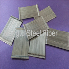 tensile strength 0.75*60 glued hooked steel fibre concrete reinforcement