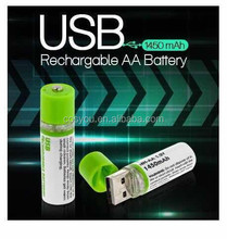 2015 Promotion gifts Built-in USB port AA rechargeable battery,1.2V USB batteries