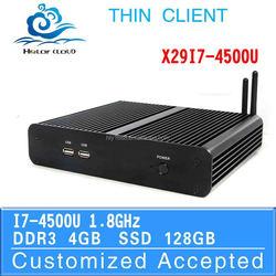 nuc computer Smart Mini PC Htpc Computer Case X29-I7 4500U Support 3G and WiFi (LBOX-525) 4G RAM 16G SSD
