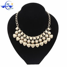 Fashion Necklaces 2015 Yiwu Wholesale Charm Gold Plated Heart Necklace For Women