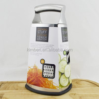 stainless steel 4 sides multiple food grater with hollow handle