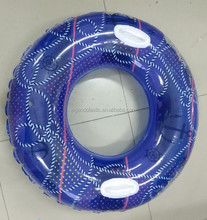 PVC inflatable swim ring for adults, high-quality tire swimming ring with handles
