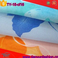 top quality polyester french silk vintage printing plain woven chiffon fabric rolls