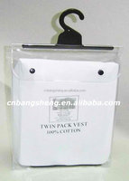 RECYCLABLE PVC plastic packaging bags for garment