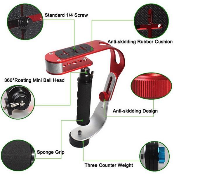 Red Professional Handheld Stabilizer Video Steadicam for Canon Nikon Sony Pentax Digital Camera DSLR Camcorder4.jpg