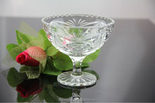 machine made clear ball shaped ice cream cup with stand wholesale