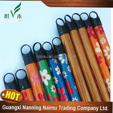 china wholesale wooden broom stick pvc cover